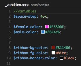 Quelques Widgets sont présent comme ici l'aperçu des couleurs